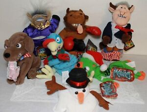 MEANIES SHOCKING STUFFERS STUFFED PLUSH COLLECTION OF 7 PIECES ALL W/ TAGS CLEAN