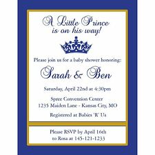 20 Personalized Baby Shower Invitations - Little Prince Baby Shower Design