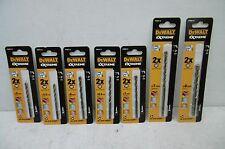 DEWALT EXTREME 7PCE MASONARY DRILL BIT SET 5MM 5.5MM 6MM 6.5MM 7MM X 2 AND 8MM