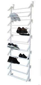 Shoe storage 10 shelf hanging shoe storage rack -white 24 pairs free p&p