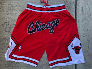 Men's Chicago Bulls Just Don Summer League Red Retro Stitched Basketball Shorts