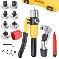Hydraulic Tube Expander Swaging 7 Lever Expander Tools Kit HVAC Tool w/ Case