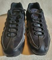 Nike Air Max 95 GS Triple Black Athletic Shoes Youth Size 7Y