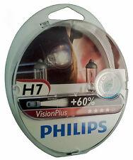H7 PHILIPS VisionPlus dos bombillas 60% más de luz en carretera 12972VPS2