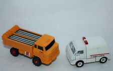 Lot of 2 Transformers Vintage Toys 1980s Ambulance & Dump Truck