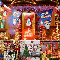 3x Bannière Noël Guirlande Suspendue Décor Drapeaux Joyeux Fête Anniversaire BR