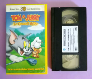VHS Film Ita Animazione TOM & JERRY Le Grandi Sfide Warner PIV 65305 no dvd(V182