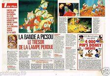 Coupure de presse Clipping 1991 (2 pages) Dessin animé La Bande à Picsou