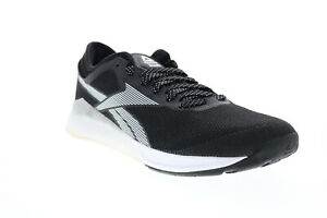 Reebok Nano 9 FU6826 Mens Black Mesh Lace Up Athletic Cross Training Shoes