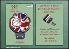 Royale Classic Car Badge & Bar Clip BRITISH BULLDOG UNION JACK Mod B1.0943
