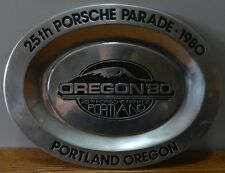"1980 ""25th Porsche Parade Portland Oregon"" 15"" oval Plate Platter Plaque"
