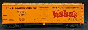 MANTUA: E. KAHN'S EKSX #3794, DIE-CAST BASE YELLOW BOXCAR VINTAGE HO USA!