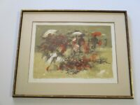 SIMBARI  ORIGINAL LITHOGRAPH  ABSTRACT EXPRESSIONISM ITALIAN  LIMITED MODERNIST
