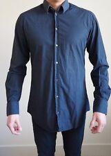 D&G Men's 16/41 Shirt Dolce & Gabanna Gold Black Patterned Dress Shirt
