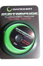 Gardner Subterfuge Fluorocarbon Hook Link 15lb Super Soft 15mtrs - Carp Fishing