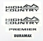 Suburban/Tahoe Black High Country Lettering