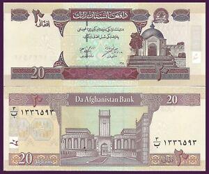 Afghanistan P68a, 20 Afghani, Sultan Mahmud Mausoleum / Citadel of King GREAT UV