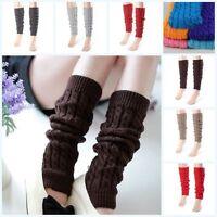 Lot Winter Warm Knit Crochet High Knee Leg Warmers Leggings Boot Socks Slouch
