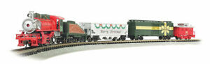 Bachmann-Merry Christmas Express -- USRA 0-6-0, 3 Cars, E-Z Track(R) Circle, Pow