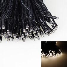 LED Weihnachts Lichterkette 192 LEDs Warmweiß Beleuchtung innen außen Batterie