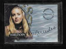 Buffy The Vampire Slayer season 4 autograph card A20 Mercedes McNab - Harmony