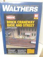 Brick Craneway Base and Street Walthers Model Railroad building kit 933-4097
