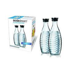 SodaStream Glasflasche DuoPack Glaskaraffe 2 x 0,6L Langfristig Glasflaschen NEU