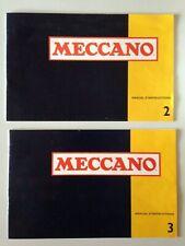 LOT MANUEL D'INSTRUCTIONS MECCANO BOITE N°2 + 3