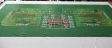 """12 ft Craps Layout - 144"""" X 53"""" - Ultra-Glide™ Polyester - NEW"""