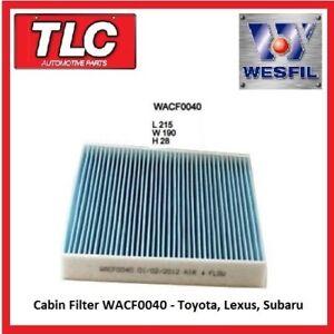 Wesfil Cabin Pollen Filter WACF0040 RCA164P RCA178P RCA260P