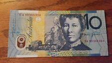 Australia Banknote 10 Dollars 1993 Red Serial UNC