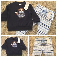 Gymboree Boy's Two Piece Outfit, Top Shirt Leggings, 12-18 mos., NWT