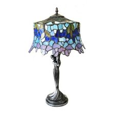 "SOPHIA Wisteria 1 Light Antique Dark Bronze Table Lamp 13"" Shade"