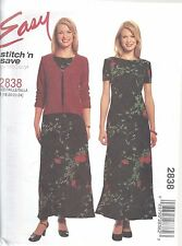 McCalls Sewing Pattern # 2838 Misses Petite Jacket and Dress Size 18-20-22-24