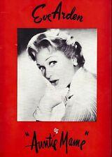 "Eve Arden ""AUNTIE MAME"" Benay Venuta / Yuki Shimoda 1958 Souvenir Program"
