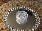 Riihimaki Glass Jewelery /Trinket Dish 4 Inches In Diameter