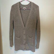 American Eagle open knit cardigan sweater pockets size medium