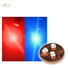 20 SMD LEDs Bi-Color Rot / Blau 2-farbig 2-Chip Mini