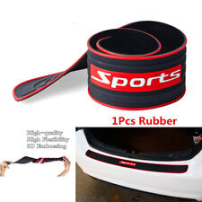 90CM Sports Style Car Trunk Rear Bumper Protector Rubber Trim Anti-Scratch Strip