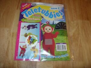 Vintage 1990s TELETUBBIES MAGAZINE inc FREE GIFT / STICKERS - ISSUE 2