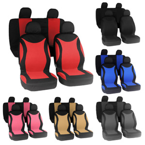 4/9PCS Universal Full Set Rear Head Rests Car Auto Suv Truck Seat Cover