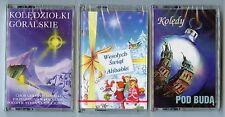 3 Polish Christmas AudioCassettes-Koledy Pod Buda-Koledziolki Goralskie-Alibabki
