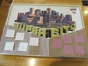 1967 1968 Ideal Super City parts:(10) inserts: (5) travertine, (5) red/wht brick