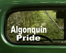 2 ALGONQUIN PRIDE STICKERs Native American Decal for Car Truck Laptop Window