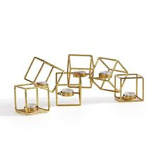 Danya B™ Sparkling Gold Six Cube Candle Holder DS841