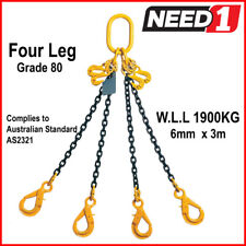 Lift Safe Grade 80 4 Leg Lifting Chain Sling With Clevis Self Locking Hook