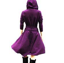 Vestito Donna Abito Maglia con Cappuccio Woman Hoodie Dress 110328 P