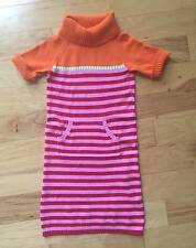 EUC GIRL GYMBOREE COZY CUTIE AUTUMN FALL STRIPED SWEATER PLAY DAY DRESS 9 10