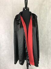 Halloween Costume Long Black Red Cape Cloak Dracula Monster Magician Vampire KID