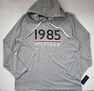 $59 New TOMMY HILFIGER SLEEPWEAR Heather Gray SLEEP HOODIE Loungewear XXL/2XL